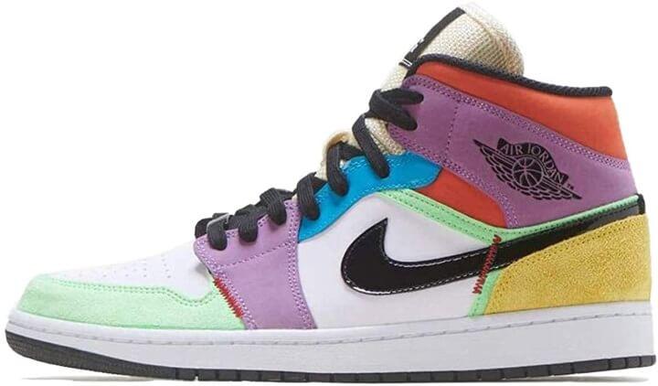 Jordan Nike Womens Shoes Air 1 Mid SE Light Club